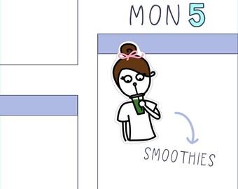 Smoothie PLANNER STICKERS - 16 count sticker sheet