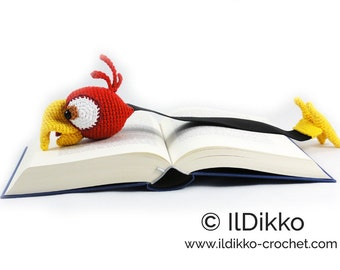 Amigurumi Crochet Pattern - Chili the Parrot Bookmark