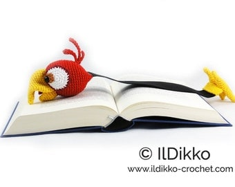 Amigurumi Crochet Pattern - Chili the Parrot Bookmark - English Version