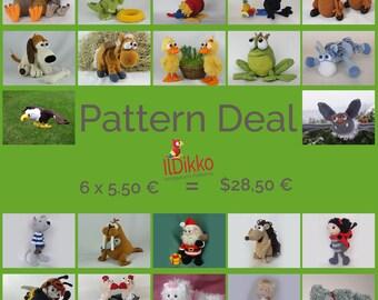 Amigurumi Pattern Deal (6 x 5,50 Euro = 28,50 Euro)