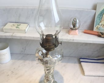 Antique Oil lamp Clear glass lantern