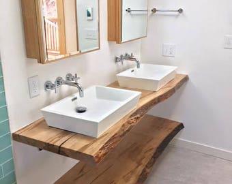 LIVE EDGE Bathroom Counter, Live Edge Bathroom Vanity, Wood Slab Counter, Wood Slabs, Live edge Shelf