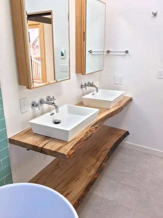 Live Edge Bathroom Counter Live Edge Bathroom Vanity Wood