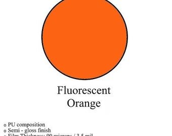 Heat Transfer Vinyl ~ Fluorescent Orange