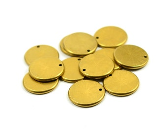 10 Pcs. Solid Brass 2x16 mm  ( 12 Gauge ) Edge Stamping Blanks Disc Findings