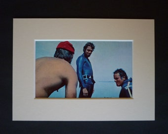 RESERVED FOR VICTORIA - Vintage Jacques Cousteau Print, Scuba Dive decor, Diving Expedition, Available Framed, Diver Art