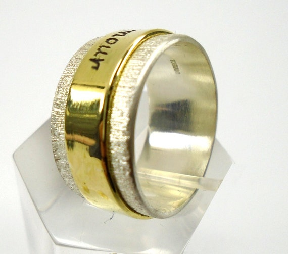 Opzione Personalizzata Dtr New : Anello con scritta personalizzata argento e ottone