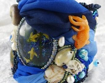 Bracelet, Bangle, Cuff, Bead Embroidery, Resin