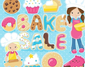 80% OFF SALE bake sale clipart, dessert clipart, Kawaii pumpkin commercial use, vector graphics, digital clip art, - CL1023