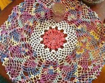 new doily,American handmade,vintage doily,vintage doilies,doily, pineapple doily,lace doily,vintage lace,wedding doily,wedding,