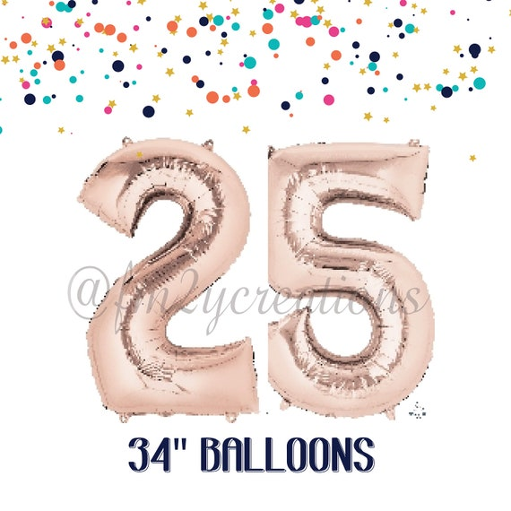 25th birthday 25th birthday decorations rose gold for 25th birthday decoration