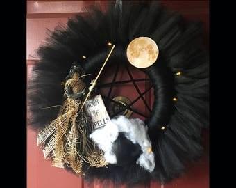 Witch Wreath - Halloween Wreath