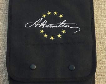 Hamilton Signature Embroidered Tablet Bag (Home Embroidered)