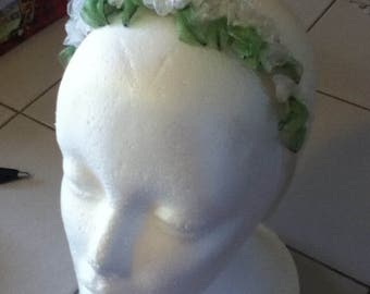 Vintage Hair Band in White