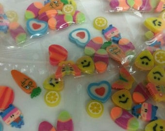 10 Each Mini Erasers Variety Package FREE SHIPPING