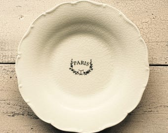 Vintage Paris Plate ... Free Shipping ... 10% Off Coupon SAVE10