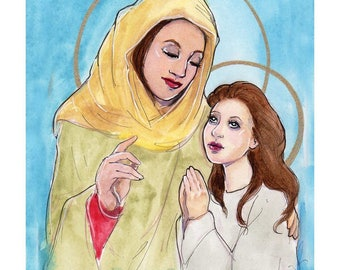 Saint Anne and Mary Art Print