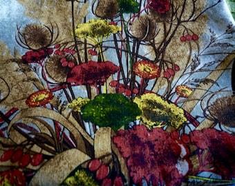 1970s calendar tea towel ~ retro Alba swiss cotton tea towel