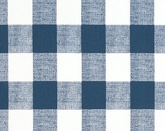 Items similar to Snowy Blue BUFFALO CHECK CURTAINS, 9 Colors,Large ...