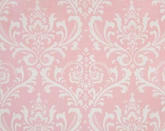 Shower Curtains // Ozbourne Damask // Pink and White // Stall // Extra Long Shower Curtains // Wide Shower Curtains