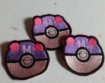 Masterball iron on pokemon patch