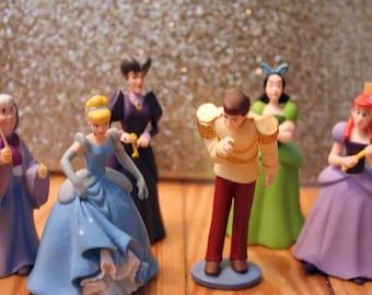 Disney Princess Cinderella, Prince Charming, Fairy Godmother Cake Topper Decor