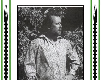 Men's Late 1700's Mountain Man's Work Shirt sizes 36-50 Eagle's View Sewing Pattern # 89
