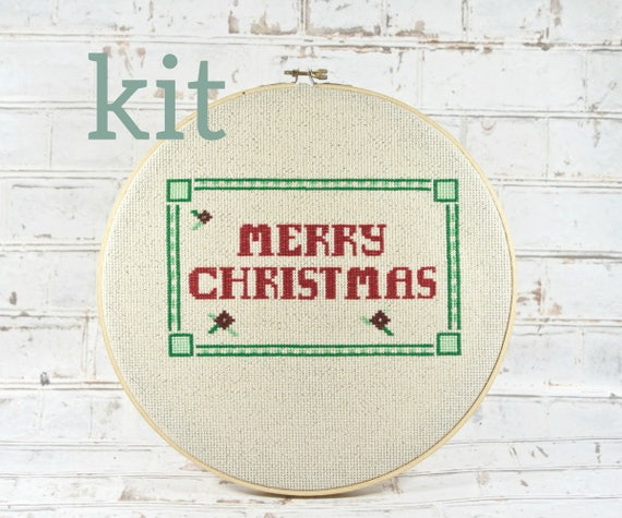 Complete kit merry christmas banner holiday greetings do it like this item solutioingenieria Image collections