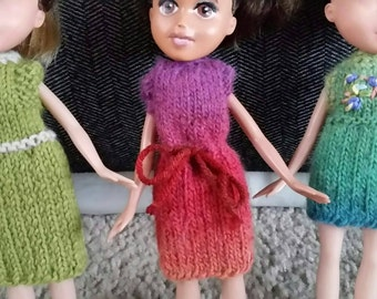 Knit Doll Dresses for 9 inch dolls