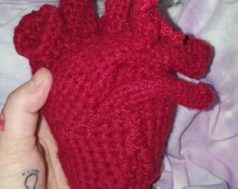 anatomical human heart . anti valentine anatomy valentine body parts   zombie horror love romance  alternative  unusual gift present
