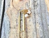 Valentines Day Sale White Butterfly Gold paper clip Planner clip Filofax Midori Kikki K Happy Planner