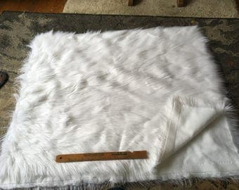 White shag faux fur 1 yard
