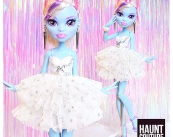 """Monster Doll Haunt Couture 2017 """"Snowflake Chic"""" ever after high fashion doll clothes dress"""