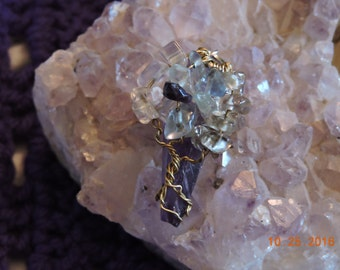Tree Of Life Amethyst Crystal  Point