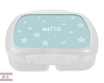 Asterisk lunchbox with pattern and names
