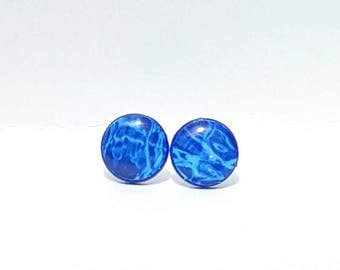 Auquatic Reflection Post Earrings