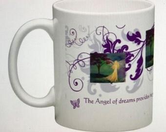 Angel Art Original Art Ceramic Mug The Angel of Dreams