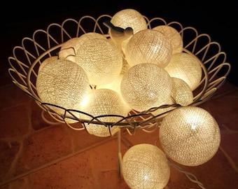 Get  3 set of Beige Chirtsmas Ball Lights for home decoration,wedding patio,indoor string lights,bedroom fairy lights,20 Bulbs
