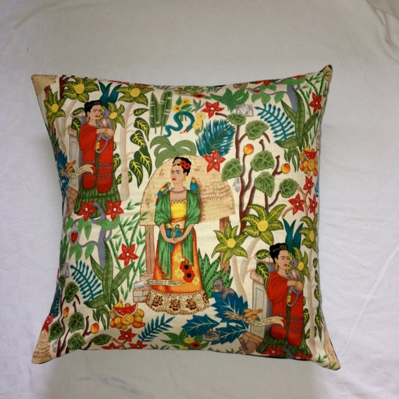 housse de coussin de sol frida kahlo. Black Bedroom Furniture Sets. Home Design Ideas