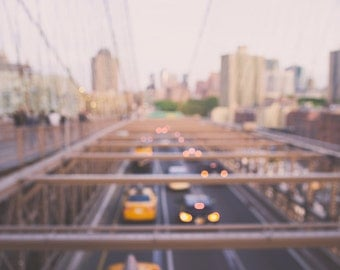 brooklyn bridge photography new york city decor brooklyn photography nyc prints large wall art brooklyn bridge art abstract bokeh nyc decor