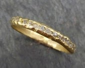 Raw Rough Uncut  Diamond Wedding Band 14k 18k Gold Diamond Wedding Ring byAngeline C0380