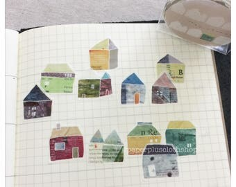 PRE ORDER Chamil Garden x  Bande Watercolor Flower Washi Stickers Roll - Sweet House MTB-CH002