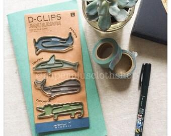Midori D-Clips Paper Clips - Aquarium Design Large