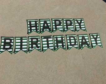 Starbucks Inspired Birthday Banner