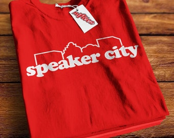 Speaker City -SD1193- Speaker City Old School Parody Shirt Bernard 'Beanie' Campbell