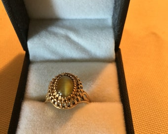 10kt Tigers Eye Ring