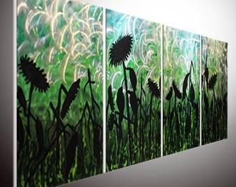 ORIGINAL Art Abstract Painting Oil Painting Landscape Painting Birch Aspen Tree Painting Abstract Art Large Wall metal sculpture wall art