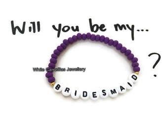 Bridesmaids bracelet, Bridesmaids gifts, Wedding bracelets, Womens bracelet