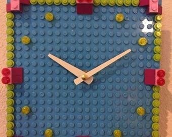 Funky Colorful LEGO Clock