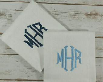 Burp cloth set of two  / basic burp cloth bundle/ Monogrammed burp cloth